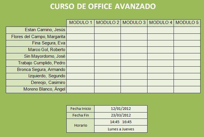 Ejercicio Excel. Objetivo: Diseño de tablas