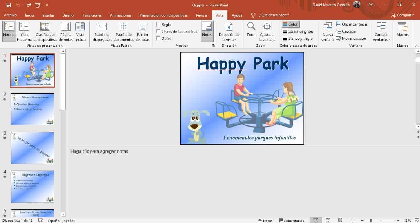 notas de orador en presentaciones de PowerPoint