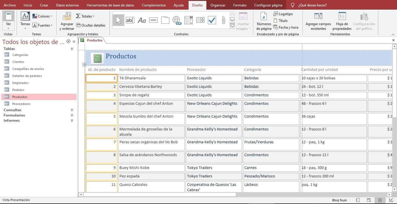 Elaboración de Informes en Access